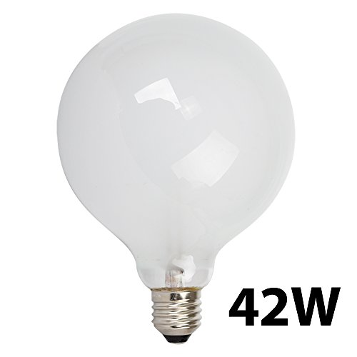 Large 42w Es E27 Gls Frosted Globe Energy Saving Eco