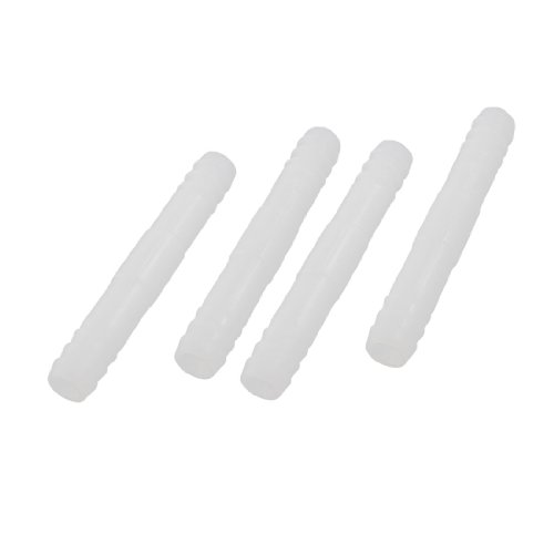 9Mm Dia Hose Barb Air Line Tubing Connectors White 4 Pcs For Aquarium front-580895