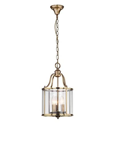Safavieh Sutton Place Small Pendant, Clear/Brass
