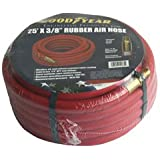 Goodyear Rubber Air Hose - 3/8in. x 25ft., Red