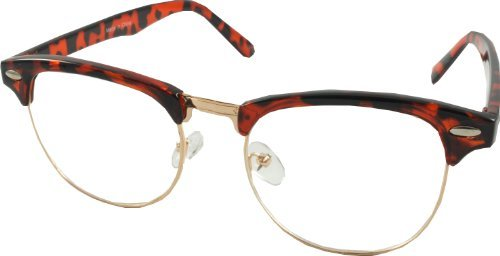 clubmaster 60 s retro style glasses clear lenses