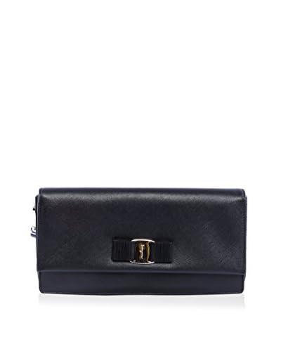 Ferragamo Women's Cami Clutch Bow Wallet, Black