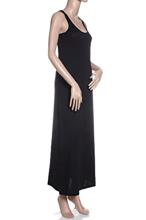 Absolute Clothing Perfect Casual Summer Spring Halter Maxi Long Dress - Black Small
