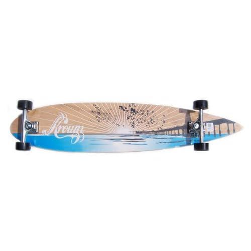 Amazon.com : Krown Wood Sunset Complete Longboard Skateboard