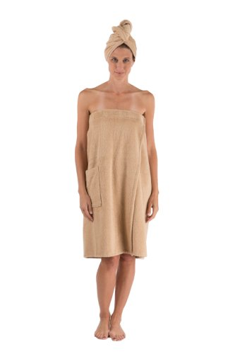 Womens Bamboo Spa Wrap Set Best Gifts For Her Holiday Gift Ideas Women'S Wb0103-Abf-Sm front-504857