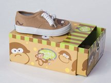 Monkey Toes Scene Weaver Baby Boys Silly Tennis Shoes