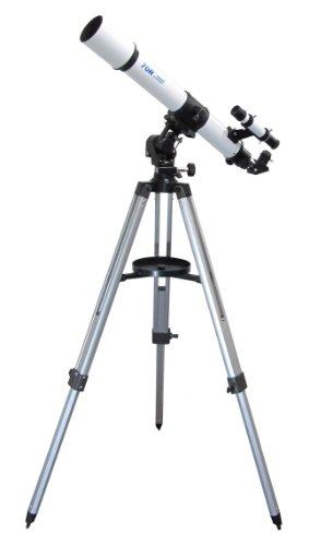 MIZAR-TEC 天体望遠鏡 屈折式 口径70mm 焦点距離700mm 上下左右微動装置付き経緯台マウント MT-70R
