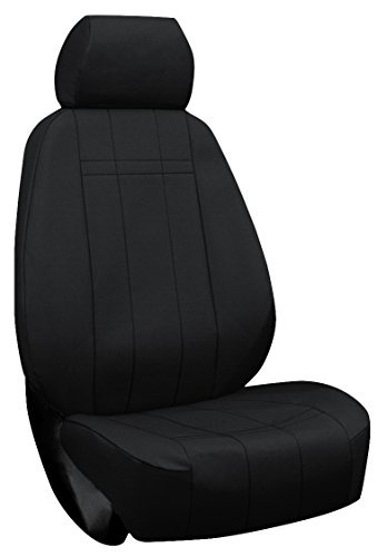 Custom Fit Ford Focus Seat Covers (2013-2014) Front Seat Set - Cordura In Black - St Recaro Sport Buckets W/ Adjustable Headrests