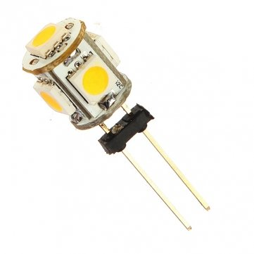 Auto G4 5 LED SMD 5050 warmes weißes Licht -Birnen-Lampen DC 12V