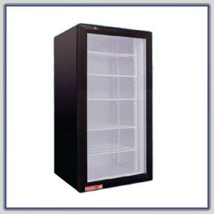 Cecilware Black 5 Shelf Countertop Display Refrigerator