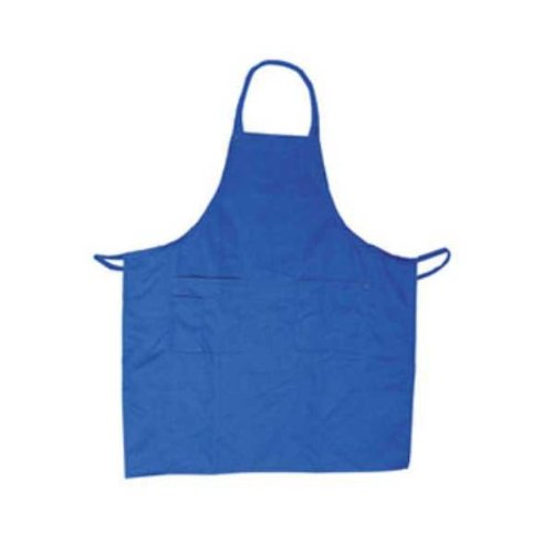 Commercial Restaurant Kitchen Bib Apron, 3-Pocket, Size 33 x 28 1/2 Inches, Blue - Set Of 2