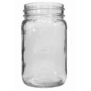 Image: 16 oz. Embossed Square Mason Jar (Case of 12)