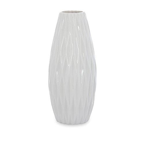 @home By Nilkamal White Snow Whites 3 Indoor Vase