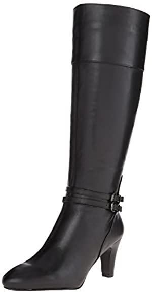 Bandolino Women's Wiser Leather Riding Boot,Black,10 M US