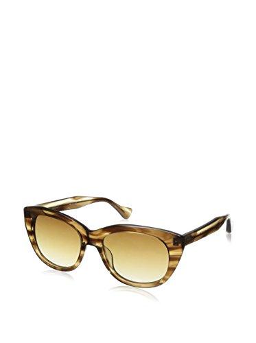 DITA Women's Savoy 22005 Sunglasses, Dark Brown Swirl Crystaline