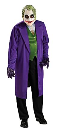 Batman The Dark Knight Joker Costume, Black/Purple, X-Large