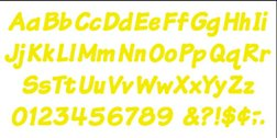"Trend Enterprises Yellow 4"" Italic Ready Letters, 175/Pkg (T-2701)"