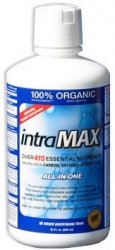 intraMAX Liquid Nutrition, Peach Mango Flavor, 8g fiber/4g protein per serv., Vitamins, Minerals, Enzymes, Fiber, 33 oz - 1 Month Supply