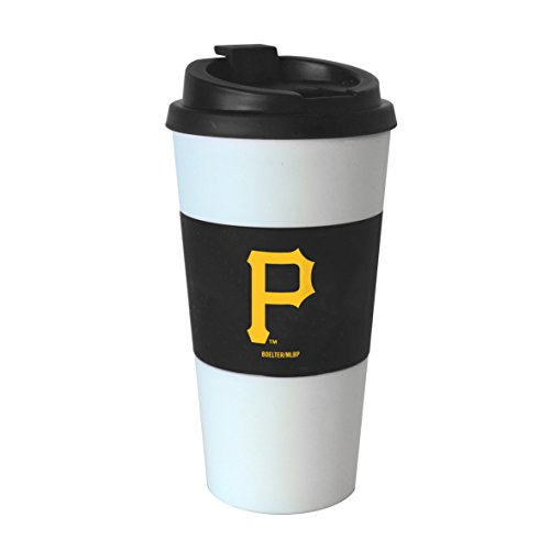 MLB Pittsburgh Pirates Sleeved Travel Tumbler, 16 oz., White