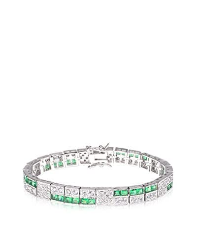 CZ by Kenneth Jay Lane Clear & Green CZ Multi-Stone Bracelet