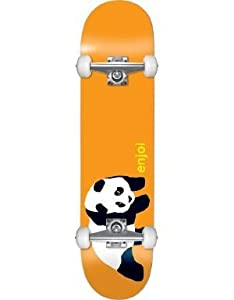 Buy Enjoi Panda Complete Skateboard (Orange, 7.5-Inch) by Enjoi