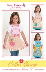 Cotton Ginnys Patterns Fun Friends Aprons; 3 Items/Order