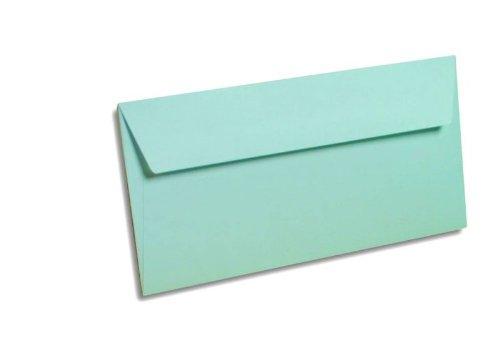 Paquet de 20 enveloppes POLLEN format 110x220 mm coloris bleu référence 5435.