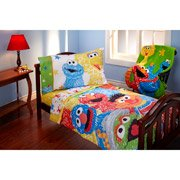 Unique Check Sesame Street Scribbles TODDLER Piece Bedding Set Comforter Sheets Big Bird Elmo Cookie Monster Grover Now