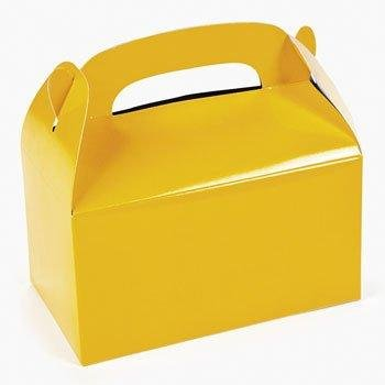 Paper Yellow Treat Boxes