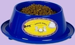 Anti-ant Pet Food Bowl - Blue, 4 Inch Diameter