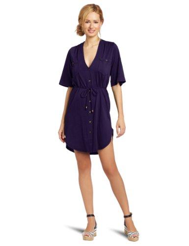 d60d7c2b2e6 Bobi Women s Supreme Jersey Button Front Pocket Dress - Wadulifashions