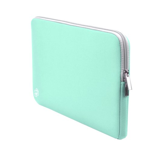 Case Star® Neoprene Laptop Notebook Ultrabook Sleeve Case for Macbook Pro Air 15/15.6Inch and Other Brand 15 /15.6Inch Laptop HP Dell Toshiba ASUS Sony Lenovo Samsung (15 InchesParadise Blue with Gray Zipper) Picture