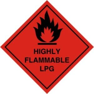 Smarts-Art Highly Flammable Lpg Hazard Warning Magnetic Sign