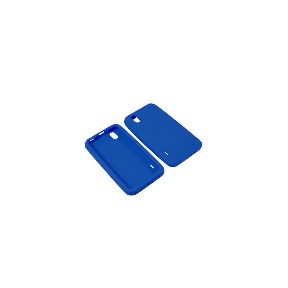 Eagle Soft Sleeve Gel Cover Skin Case for Sprint LG Marquee LS855  Blue
