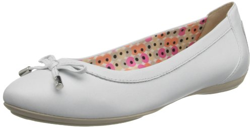 Geox D CHARLENE A D32Y7A00085C9999, Ballerine donna, Bianco, 37