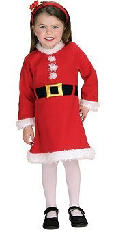 Santa Claus Girl Infant Christmas Costume Size 6-12 months