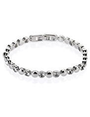 M&S Collection Platinum Plated Diamanté Bracelet