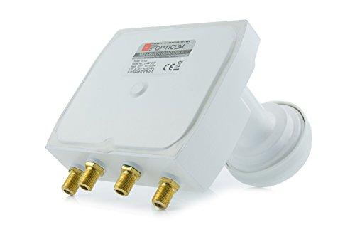 Opticum Monoblock Quad LNB - LMQP-04H (Astra/Hotbird) vergoldete Kontakte (Full HD, 3D)