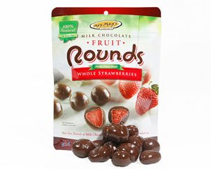 Mrs. May's Freeze Dried Whole Strawberries Chocolate Rounds 16 oz (453g)