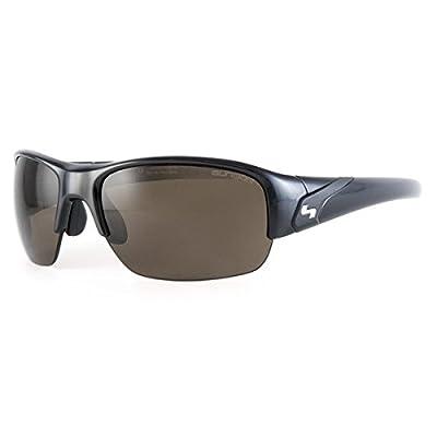 Sundog Mark Melnyk Sunglasses, Mela Shiny Black Frame/Smoke Mela Polarized Lens