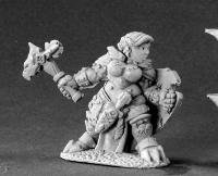 Nalila Goldhammer Female Dwarf Paladin Miniature Dark Heaven Legends by Reaper Minatures