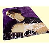 """Justin Bieber Licensed Accessories STRINGS with Guitar - Mink-Style, Ultra-Soft Throw Blanket / Bedding 50"""" x 60"""""""