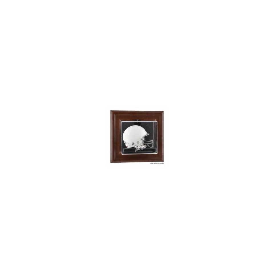 Navy Midshipmen Brown Framed Wall Mountable Mini Helmet Display Case