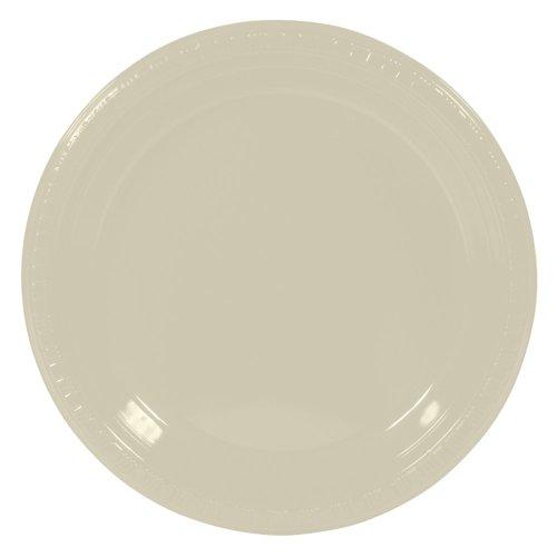 """Vanilla Creme 7"""" Plastic Plates 20ct - 1"""