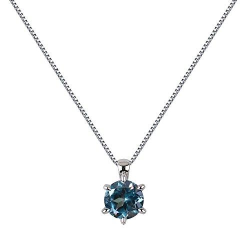 [ジュエリーキャッスル] Jewelry Castle ネックレス 1カラット シンセティック アレキサンドライト 一粒ネックレス