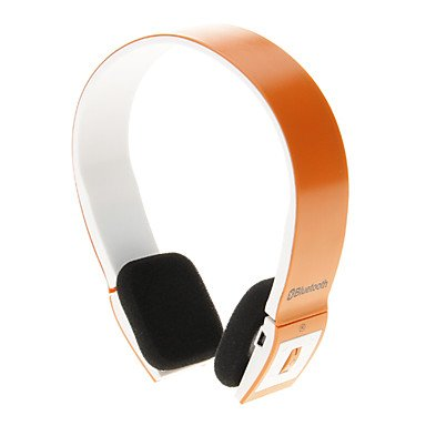 Zcl8086 Bluetooth Headset Music On-Ear Earphone For Iphone Ipad Computer (Orange)