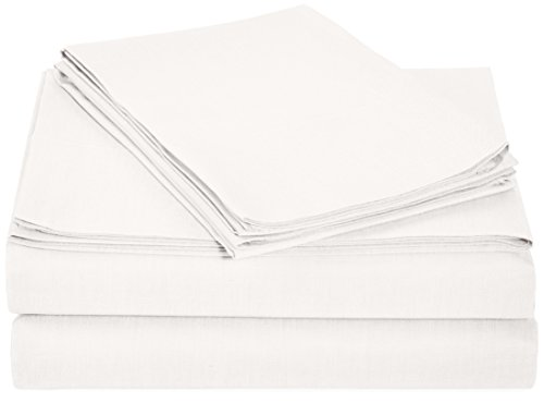 Amazonbasics 200 Thread Count Sheet Set Queen White