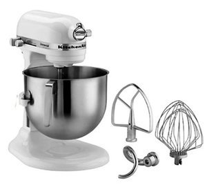 kitchenaid 7qt bowl lift stand mixer white electric stand