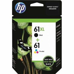 HP 61XL/61 High Yield Black and Standard Tricolor Combo Pack (CZ138FN#140)