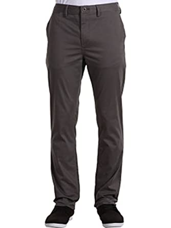 """DC """"Regular Fit Chino"""" Charcoal Size 33"""